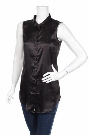 Γυναικείο πουκάμισο La City, Μέγεθος S, Χρώμα Μαύρο, Πολυεστέρας, Τιμή 2,00€