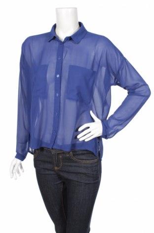 Γυναικείο πουκάμισο Monki, Μέγεθος S, Χρώμα Μπλέ, 100% πολυεστέρας, Τιμή 17,94€