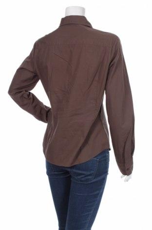 Γυναικείο πουκάμισο Sisley, Μέγεθος L, Χρώμα Καφέ, 100% βαμβάκι, Τιμή 14,43€