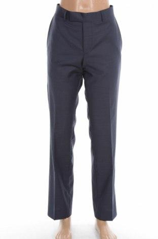 Мъжки панталон S.Oliver, Размер S, Цвят Син, 62% вълна, 21% полиестер, 17% полиамид, Цена 16,95лв.