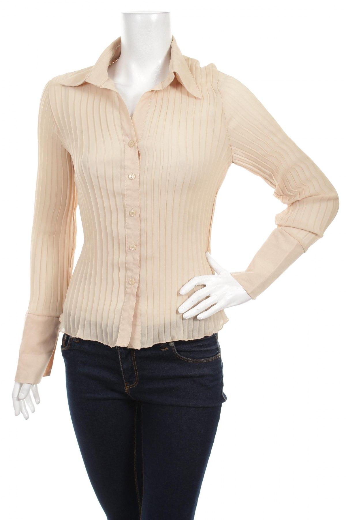 Γυναικείο πουκάμισο, Μέγεθος L, Χρώμα  Μπέζ, 100% πολυεστέρας, Τιμή 15,98€