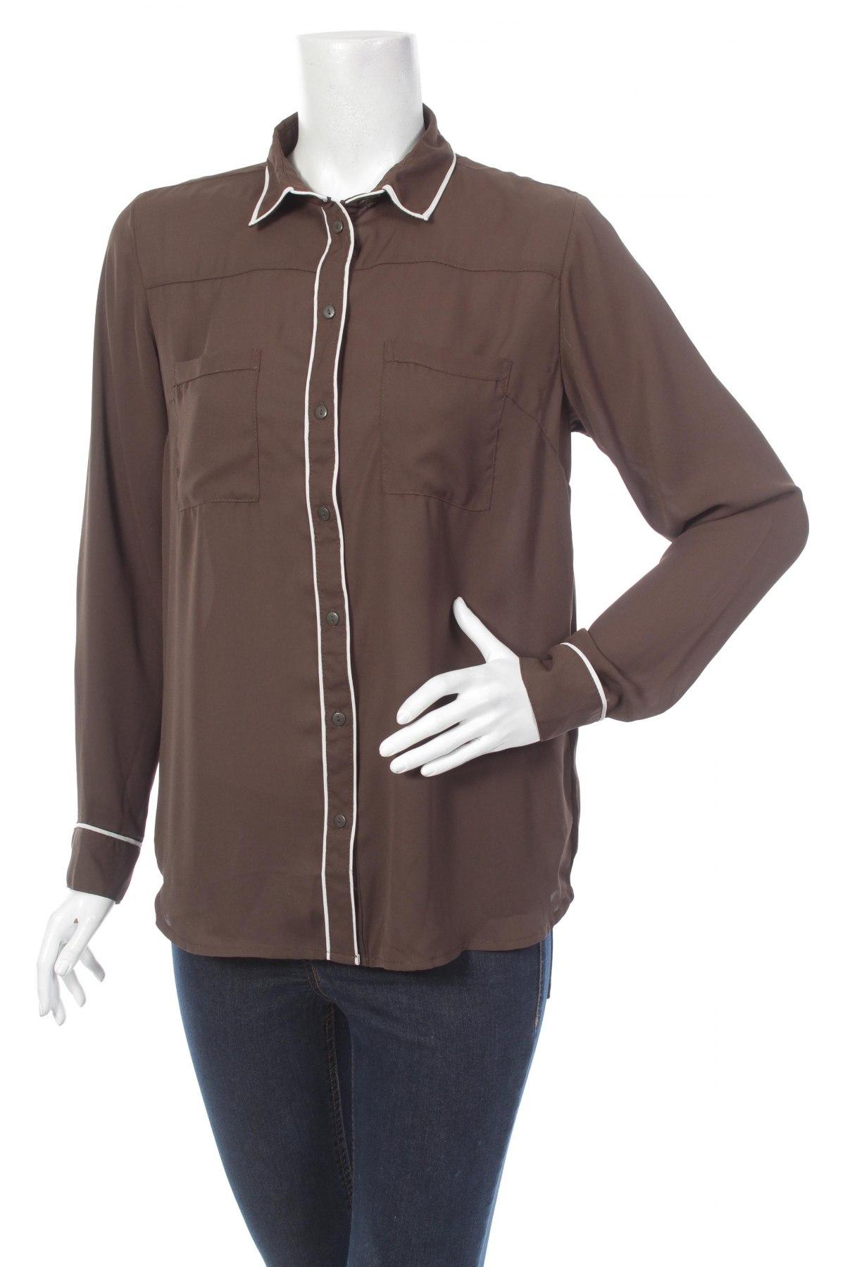 Γυναικείο πουκάμισο Amisu, Μέγεθος M, Χρώμα Πράσινο, Πολυεστέρας, Τιμή 18,56€