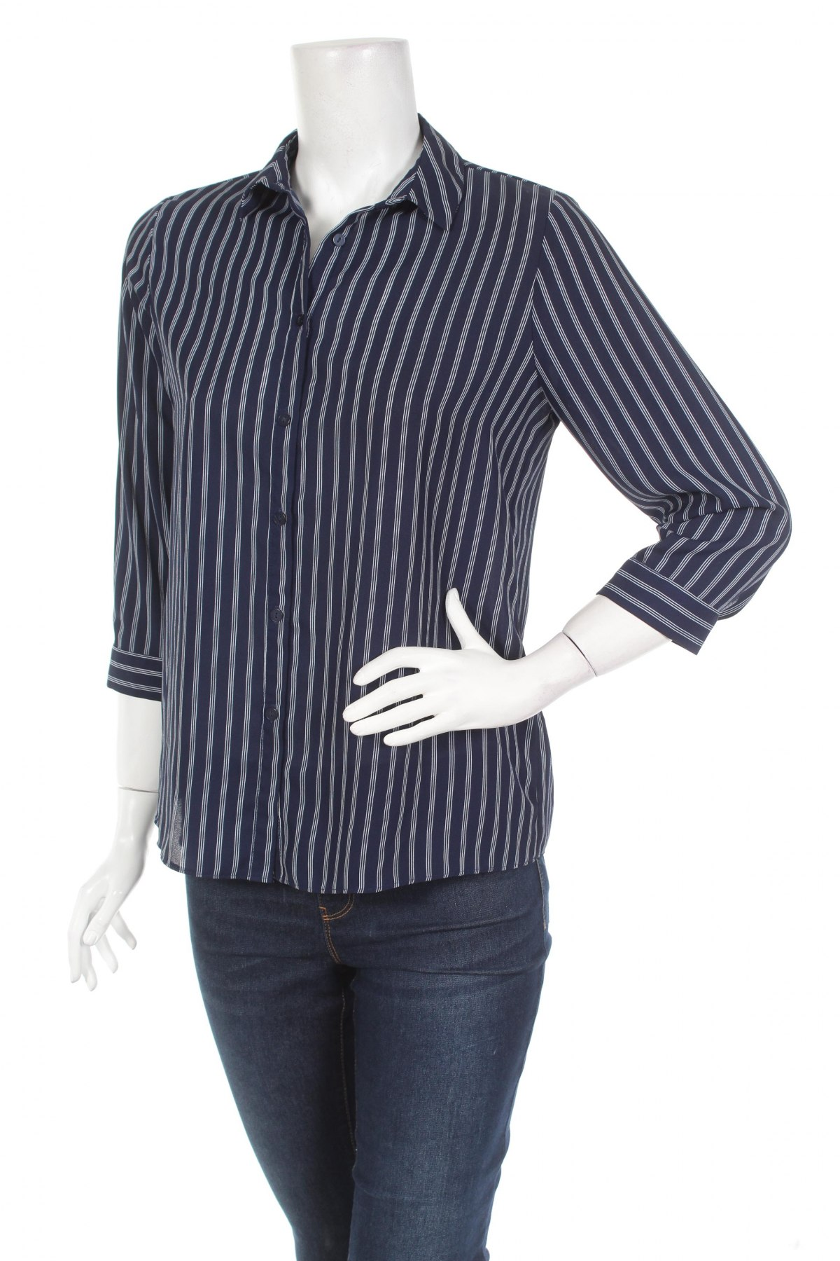 Γυναικείο πουκάμισο Atmosphere, Μέγεθος M, Χρώμα Μπλέ, 100% πολυεστέρας, Τιμή 22,68€