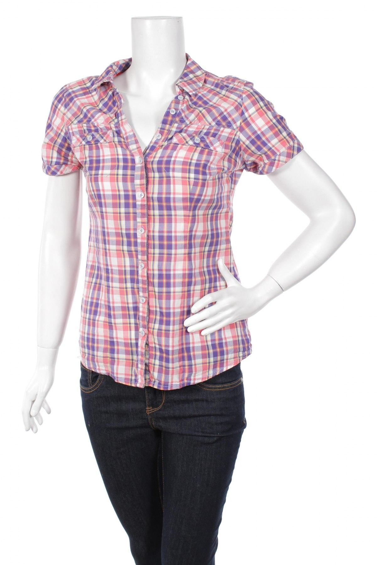 Γυναικείο πουκάμισο Clockhouse, Μέγεθος S, Χρώμα Πολύχρωμο, 100% βαμβάκι, Τιμή 9,28€