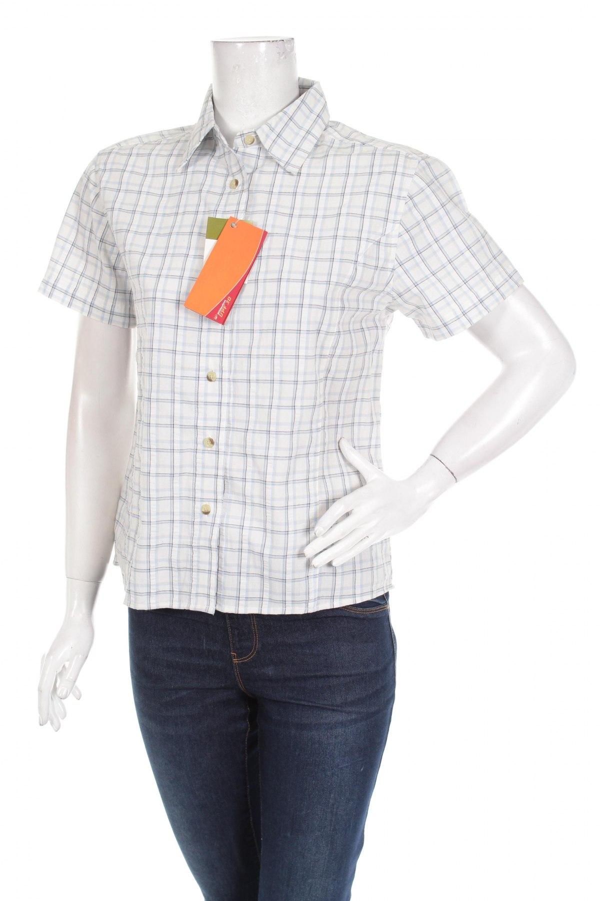 Γυναικείο πουκάμισο Crane, Μέγεθος M, Χρώμα Λευκό, 50% πολυεστέρας, 30% βισκόζη, 20% βαμβάκι, Τιμή 13,40€