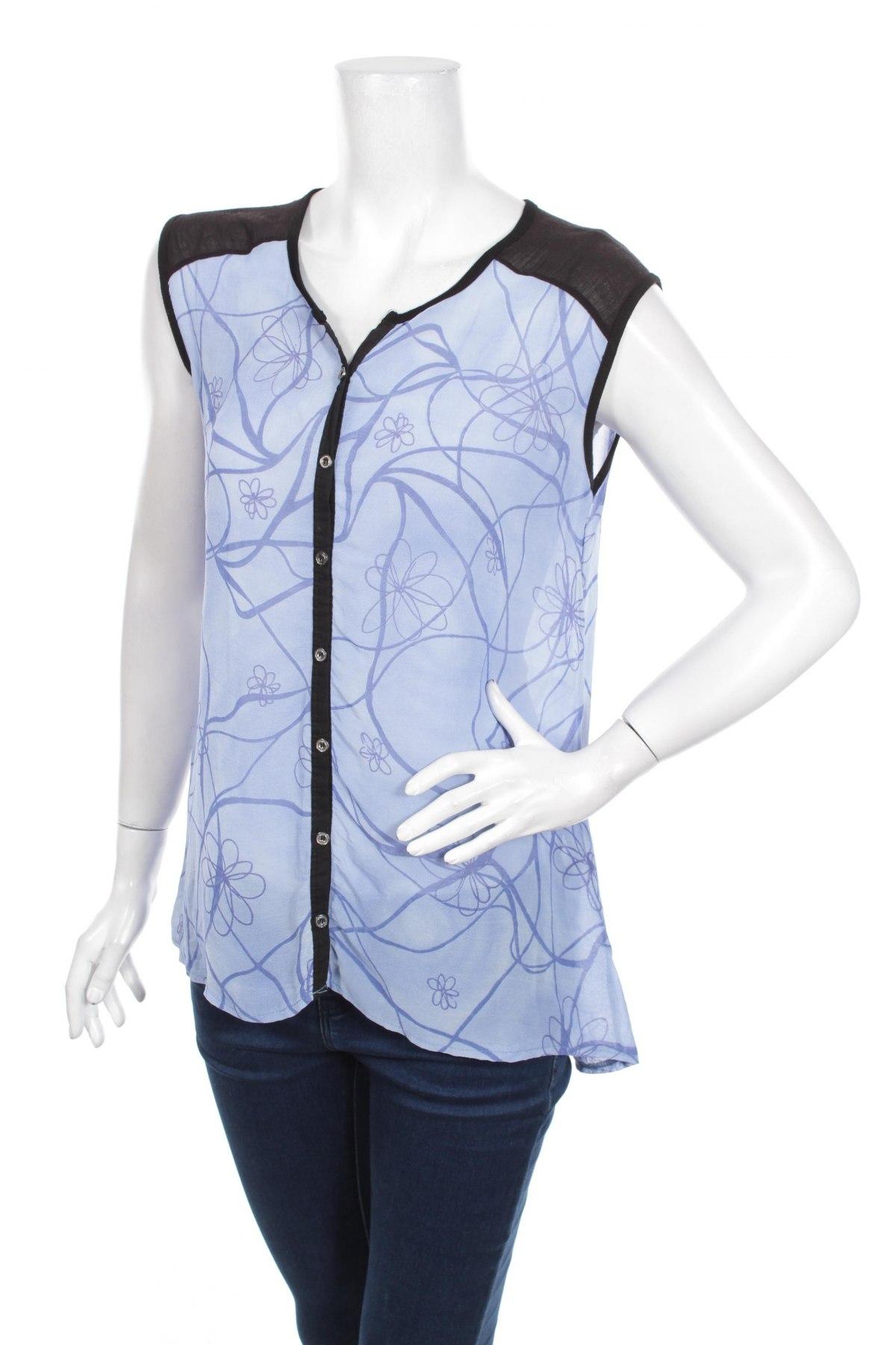 Γυναικείο πουκάμισο H&K Collection, Μέγεθος M, Χρώμα Μπλέ, Τιμή 11,52€
