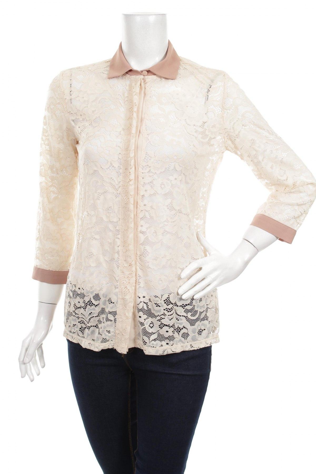 Γυναικείο πουκάμισο Intimissimi, Μέγεθος M, Χρώμα Εκρού, 87% πολυαμίδη, 13% ελαστάνη, Τιμή 21,65€