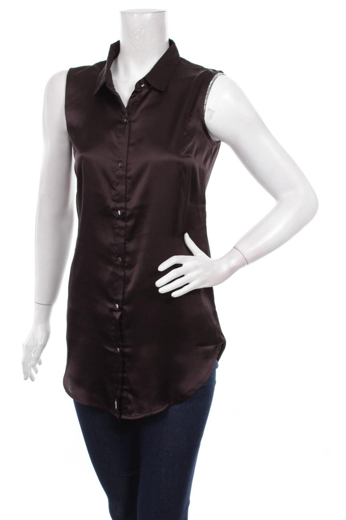 Γυναικείο πουκάμισο La City, Μέγεθος XS, Χρώμα Μαύρο, Πολυεστέρας, Τιμή 2,00€