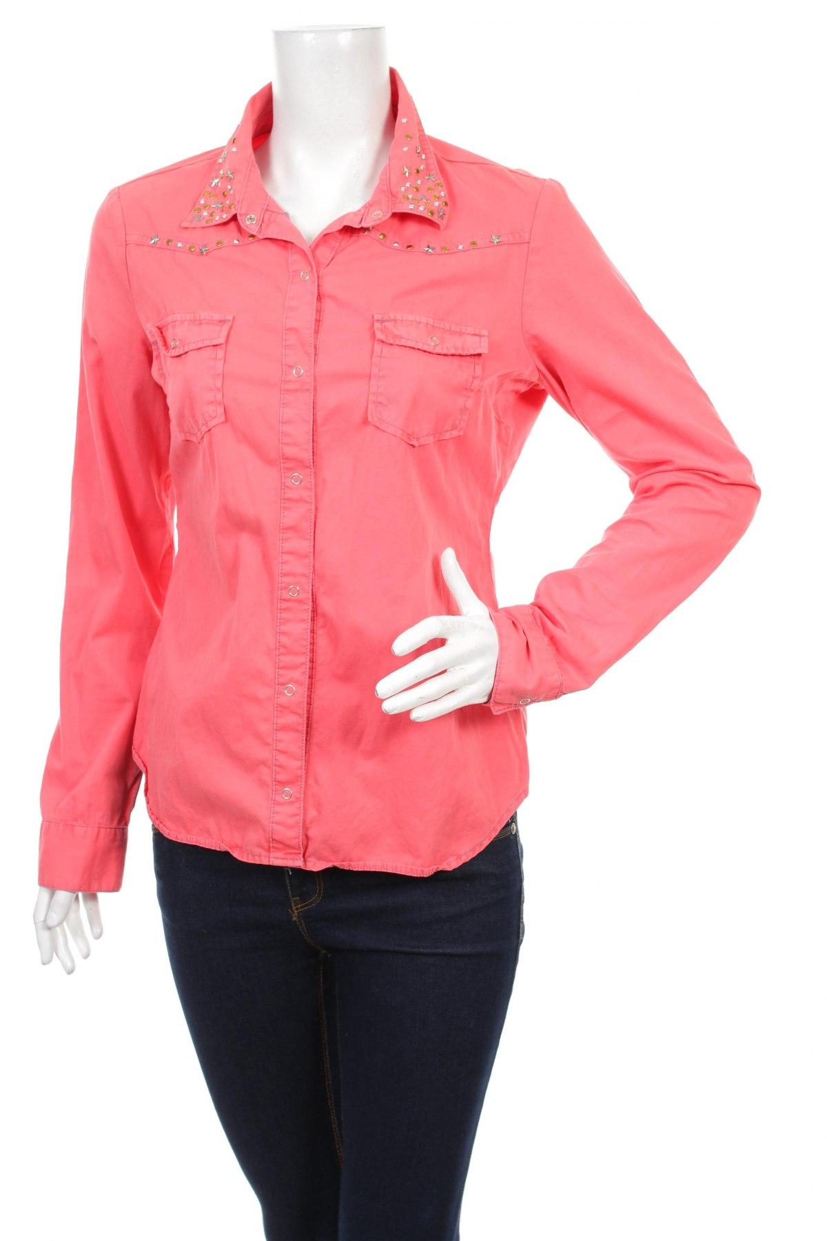 Γυναικείο πουκάμισο Tally Weijl, Μέγεθος M, Χρώμα Ρόζ , Τιμή 12,89€