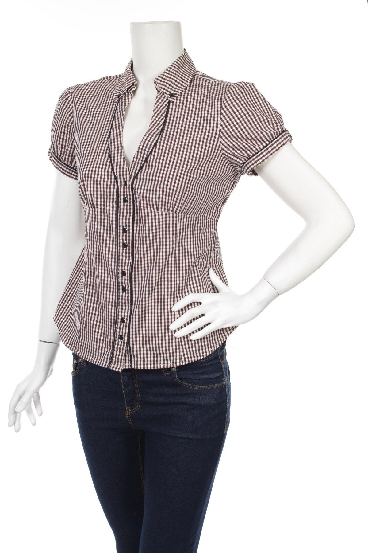 Γυναικείο πουκάμισο Tally Weijl, Μέγεθος L, Χρώμα Πολύχρωμο, 64% βαμβάκι, 31% πολυεστέρας, 5% ελαστάνη, Τιμή 13,13€