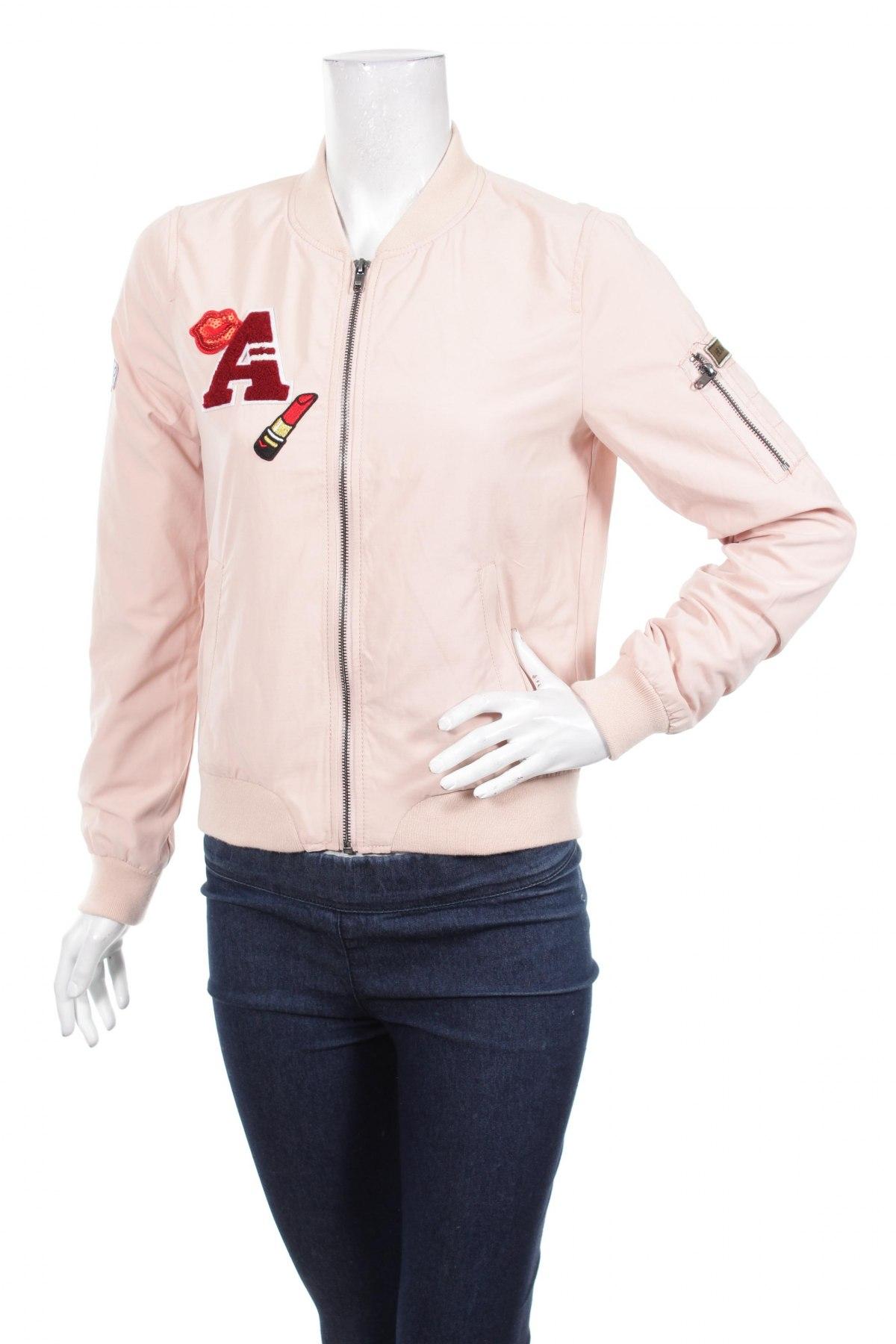 Дамско яке Only, Размер S, Цвят Розов, 88% полиестер, 12% памук, Цена 36,40лв.