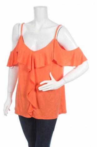 Дамска блуза B Collection, Размер M, Цвят Оранжев, Полиестер, вискоза, еластан, Цена 4,50лв.