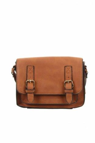 Γυναικεία τσάντα, Χρώμα Καφέ, Δερματίνη, Τιμή 8,91€