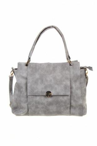 Γυναικεία τσάντα, Χρώμα Γκρί, Δερματίνη, Τιμή 9,46€