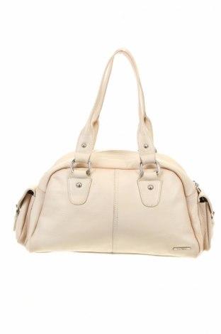 Γυναικεία τσάντα Trent Nathan, Χρώμα  Μπέζ, Γνήσιο δέρμα, Τιμή 11,51€