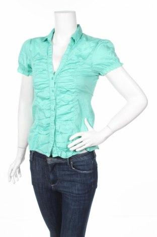 Дамска риза Blind Date, Размер S, Цвят Зелен, 77% памук, 20% полиамид, 3% еластан, Цена 4,56лв.