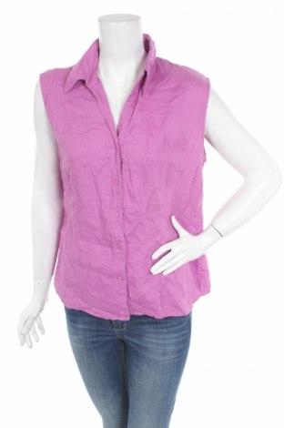 Дамска риза Cassani, Размер S, Цвят Розов, Лен, Цена 7,80лв.