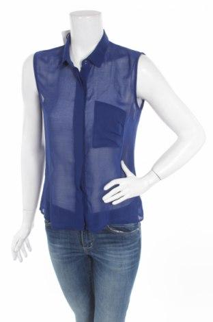 Γυναικείο πουκάμισο Gina Tricot, Μέγεθος S, Χρώμα Μπλέ, Τιμή 3,74€