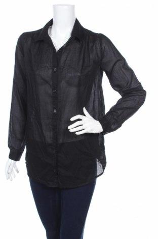 Дамска риза H&M Divided, Размер S, Цвят Черен, 100% памук, Цена 4,50лв.