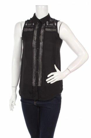 Дамска риза H&M Divided, Размер XS, Цвят Черен, Полиестер, Цена 5,25лв.