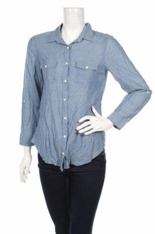 Дамска риза H&M Divided, Размер M, Цвят Син, 100% памук, Цена 19,00лв.