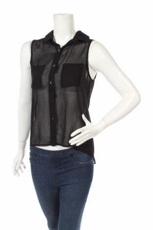 Дамска риза New Look, Размер S, Цвят Черен, Полиестер, Цена 3,75лв.