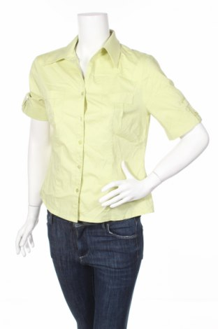 Γυναικείο πουκάμισο Tendenza, Μέγεθος M, Χρώμα Πράσινο, 65% βαμβάκι, 31% πολυαμίδη, 4% ελαστάνη, Τιμή 2,78€