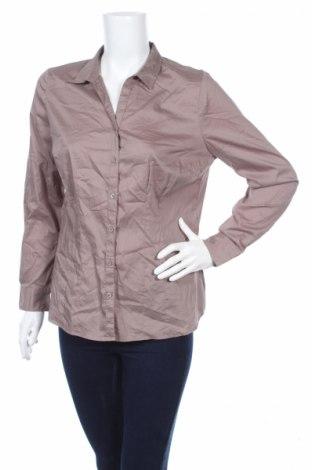 Дамска риза Yessica, Размер L, Цвят Бежов, 77% памук, 20% полиамид, 3% еластан, Цена 14,45лв.