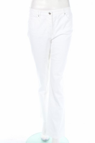Дамски панталон Gerry Weber, Размер M, Цвят Бял, 80% памук, 18% полиестер, 2% еластан, Цена 17,34лв.
