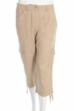 Дамски панталон Larry Levine, Размер M, Цвят Бежов, 55% лен, 45% вискоза, Цена 7,77лв.