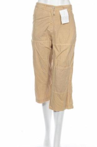 Дамски панталон PLOUMANAC'H, Размер XS, Цвят Бежов, Памук, Цена 16,12лв.