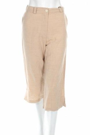 Дамски панталон PLOUMANAC'H, Размер M, Цвят Бежов, 43% вискоза, 18% лен, 39% памук, Цена 20,15лв.