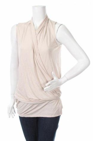 Γυναικείο αμάνικο μπλουζάκι Dkny Jeans, Μέγεθος S, Χρώμα  Μπέζ, 100% βισκόζη, Τιμή 15,05€