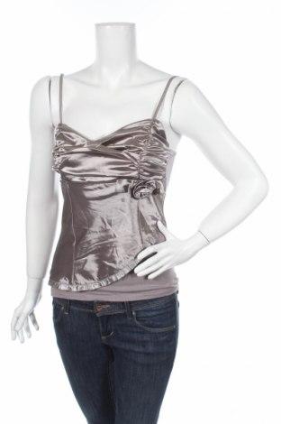 Γυναικείο αμάνικο μπλουζάκι Vert De Rage, Μέγεθος S, Χρώμα Καφέ, 100% πολυεστέρας, Τιμή 1,59€