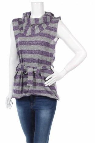 Дамски пуловер, Размер M, Цвят Сив, 90% памук, 10% еластан, Цена 31,20лв.
