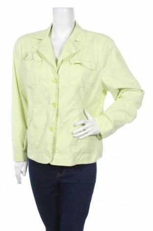 Дамско яке G.W., Размер XL, Цвят Зелен, 75% памук, 22% полиамид, 3% еластан, Цена 12,40лв.