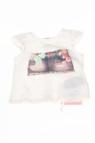 Детска блуза Blumarine Baby, Размер 3-6m/ 62-68 см, Цвят Екрю, 95% памук, 5% еластан, Цена 51,20лв.