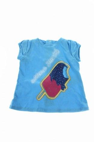 Bluză de copii Little Marc Jacobs, Mărime 2-3m/ 56-62 cm, Culoare Albastru, 50% bumbac, 50% modal, Preț 71,11 Lei