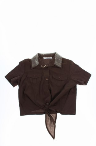 Детска блуза Liu Jo, Размер 7-8y/ 128-134 см, Цвят Кафяв, Памук, Цена 23,45лв.