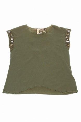 Bluză de copii Manila Grace, Mărime 9-10y/ 140-146 cm, Culoare Verde, 92% bumbac, 8% elastan, Preț 79,51 Lei