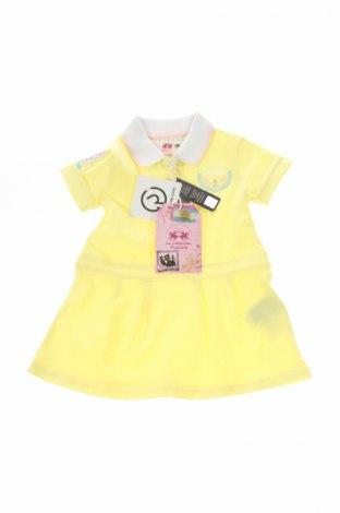 Rochie de copii La Martina, Mărime 2-3m/ 56-62 cm, Culoare Galben, 97% bumbac, 3% elastan, Preț 89,01 Lei