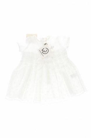 Детска рокля La Perla, Размер 2-3m/ 56-62 см, Цвят Бял, 95% памук, 5% еластан, Цена 59,60лв.