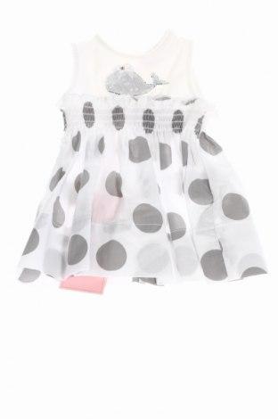 Rochie de copii Monnalisa Bebe', Mărime 2-3m/ 56-62 cm, Culoare Alb, 95% bumbac, 5% elastan, Preț 176,79 Lei