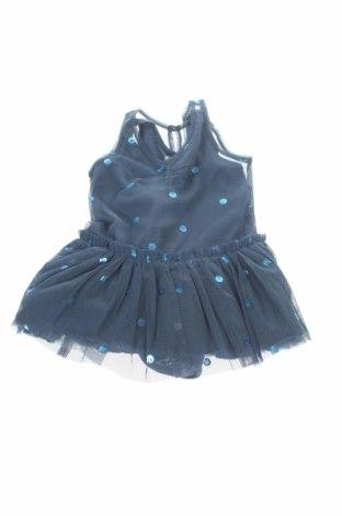 Rochie de copii Stella Mccartney Kids, Mărime 3-6m/ 62-68 cm, Culoare Albastru, Poliester, Preț 141,36 Lei