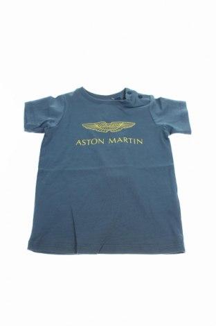 Детска тениска Aston Martin, Размер 6-9m/ 68-74 см, Цвят Син, Памук, Цена 51,60лв.