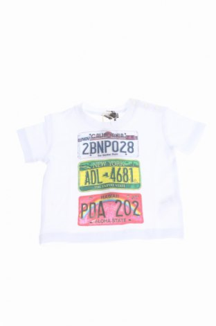 Детска тениска Grant Garcon Baby, Размер 3-6m/ 62-68 см, Цвят Бял, 90% памук, 10% еластан, Цена 20,80лв.