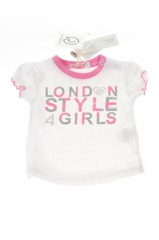 Детска блуза Mirtillo, Размер 3-6m/ 62-68 см, Цвят Бял, 95% памук, 5% еластан, Цена 18,90лв.