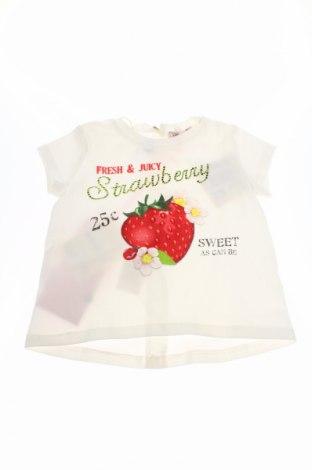 Detské tričko Monnalisa Bebe', Veľkosť 3-6m/ 62-68 cm, Farba Biela, 95% bavlna, 5% elastan, Cena  12,99€