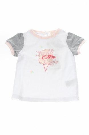 Детска тениска Silvian Heach, Размер 9-12m/ 74-80 см, Цвят Бял, 95% памук, 5% еластан, Цена 23,45лв.