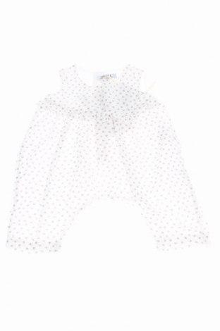 Παιδική σαλοπέτα Aletta, Μέγεθος 0-1m/ 50 εκ., Χρώμα Λευκό, Βαμβάκι, Τιμή 6,00€